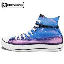 Galaxy Converse Chuck Taylor Women Men Shoes Original Design Hand Painted Shoes Custom High Top Man Woman Sneakers Christmas