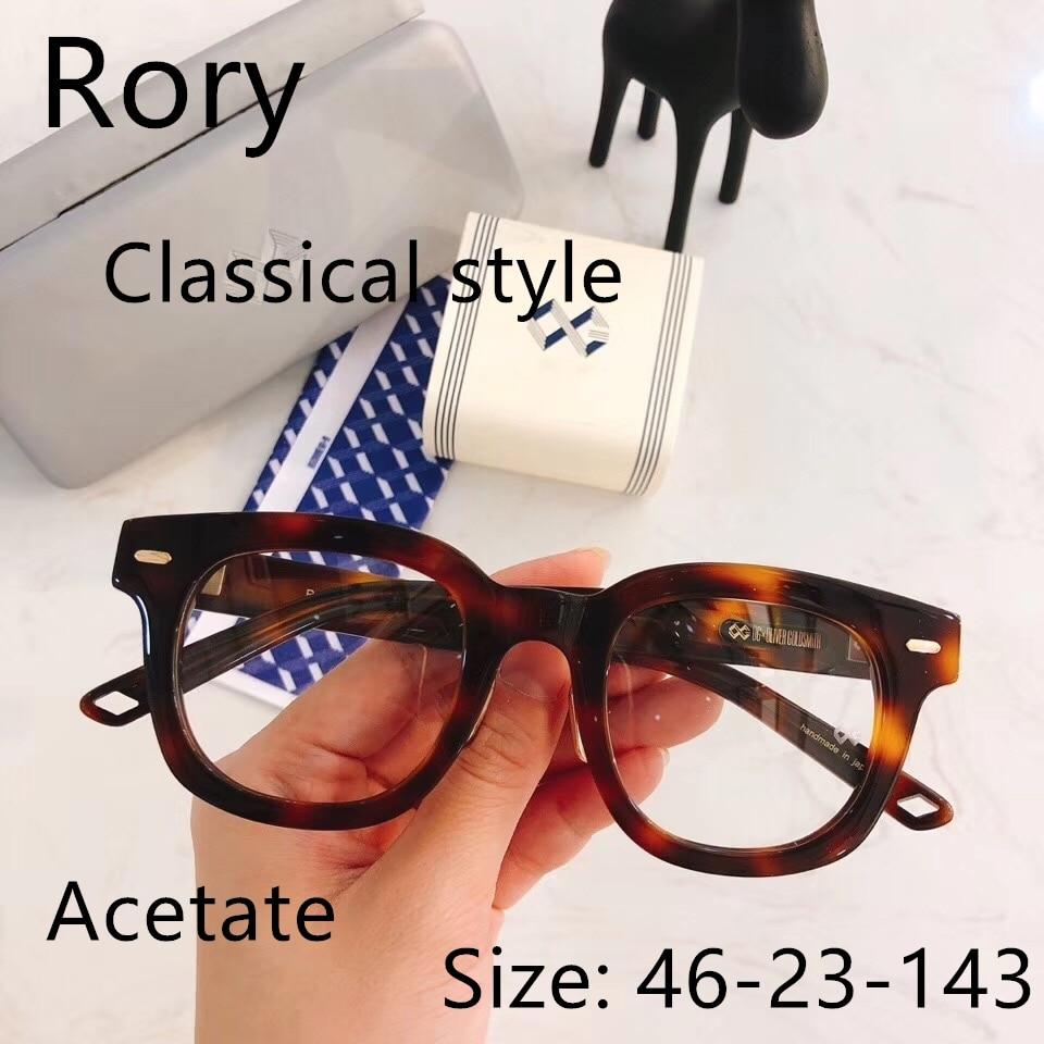 Vintage Quality Acetate big style eyeglasses frame OG Rory eyewear women men original box case prescription