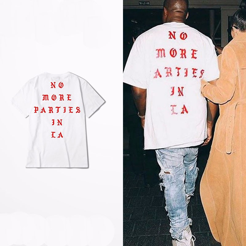 Famous Kanye Sweatshirt Chest Print Badge Jumper Parties LA 2016 Pablo Top