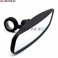 Adjustable 1.75 Heavy Duty Round Sport Mirror For POLARIS RANGER 400/500/700/800 For Polaris RZRs 570 800 900 1000 For Yamaha