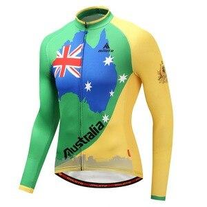 Image 4 - Мужская трикотажная рубашка MILOTO, зимняя велосипедная рубашка с длинным рукавом и длинным рукавом для езды на велосипеде, Майо, зима 2019