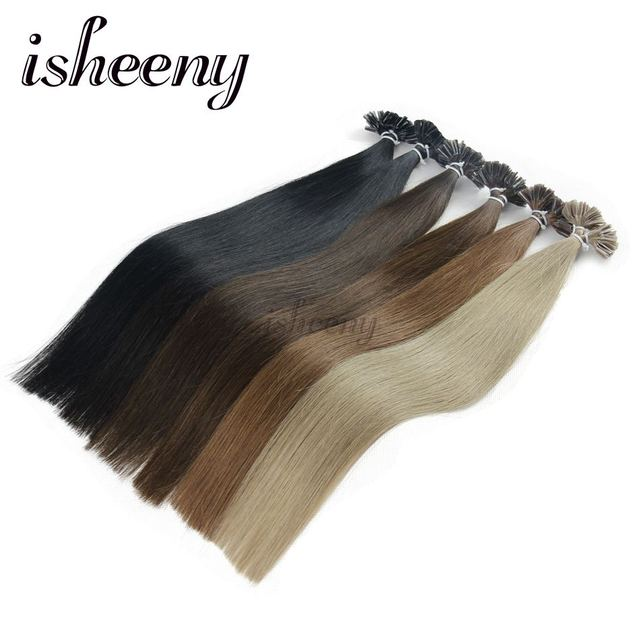 Isheeny 18 Inches Remy Fusion Hair Extensions 08g European U Tip