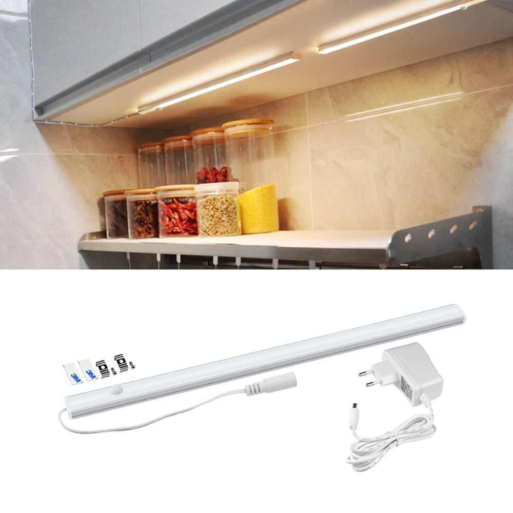 30/40/50 см светодиодный Кухня светодиодная подсветка 12 V шкаф свет PIR светильник с датчиком движения в соответствии с Кухонные шкафы бар Световая трубка