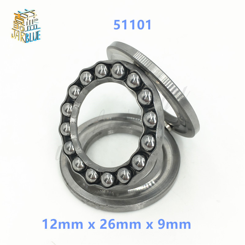 2Pcs 51101 Axial Ball Thrust Bearing 3-Parts 12mm x 26mm x 9mm Free shipping High Quality