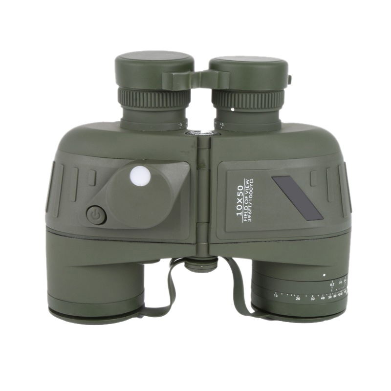 Outdoor 10x50 Waterproof All-optical green film with a compass waterproof telescope Compass Reticle Illuminant Night Vision цена