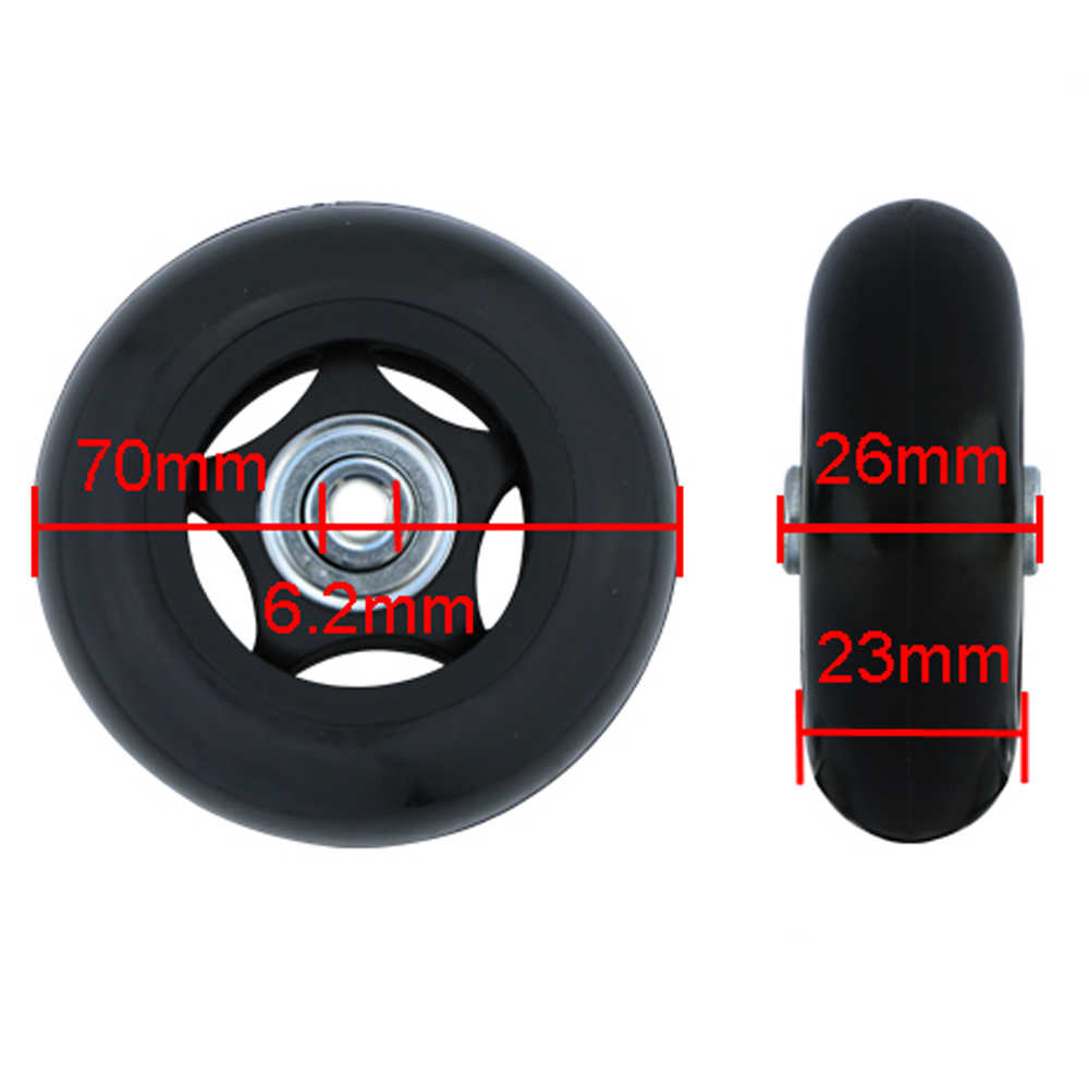 faefad583d1f NEW Luggage Replacement Wheels Suitcase Repair Replacement Parts 360  Spinner Upright Mute High Quality Wheels for Suitcases 2PCS