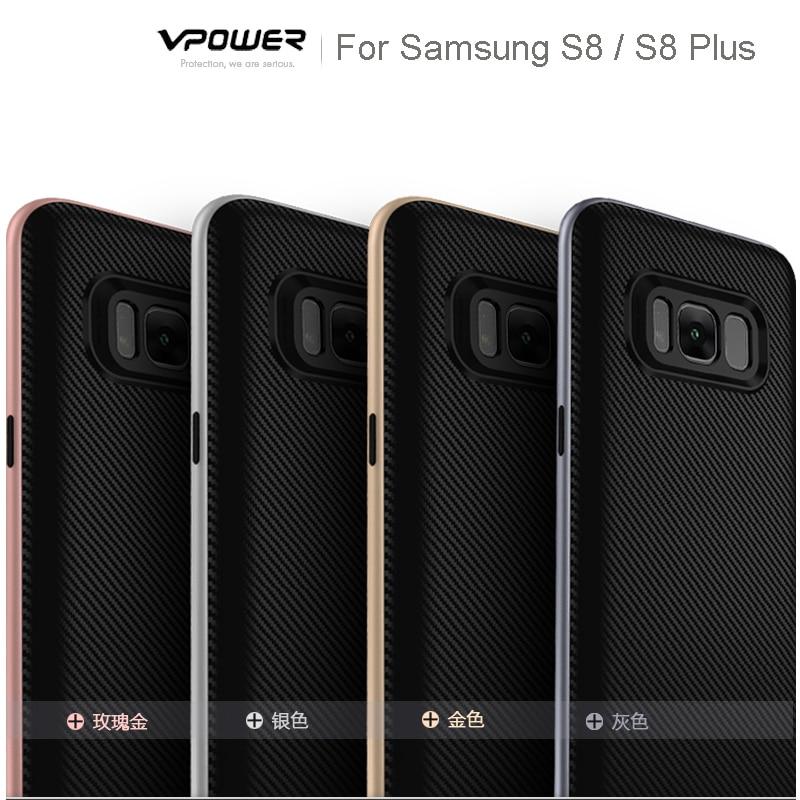 För Samsung Galaxy S8 / S8 Plus / S7 Edge Case Vpower Luxury Hybrid - Reservdelar och tillbehör för mobiltelefoner - Foto 5