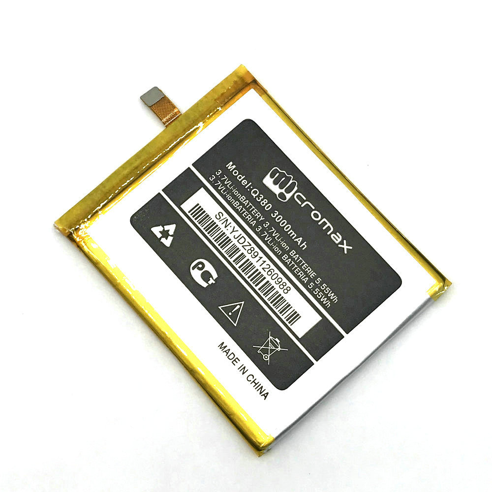 1Pcs High Quality New Original Micromax Q380 Battery for Micromax Q380 Mobile Phone in stock + Track Code