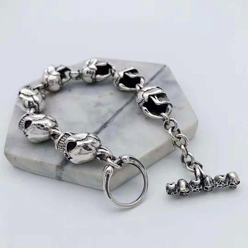 V. YA Cool 925 пробы Серебряные широкие тяжелые браслеты для мужчин плетение дизайн мужской браслет тайские серебряные ювелирные изделия 21 см 22 с... - 2