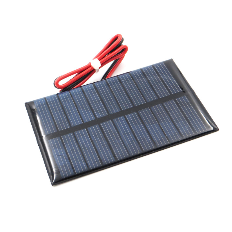 Fansaco 5.5V 100mA Portable Solar Panel Polycrystalline Silicon DIY Battery Sunpower Panel Power System Solar Cell With Cable