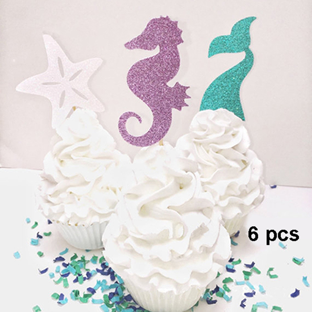 6 Stucke Glucklich Geburtstag Cupcake Topper Ozean Meer Party Thema