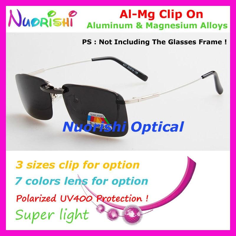 10 шт. сплава al-mg поляризованные Очки очков 7 цветов UV400 линзы клип на для малого и среднего Размеры зажимы cp07