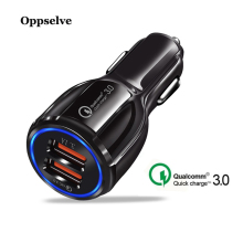 Oppselve Car USB Charger Quick Charge 3.0 Mobile Phone Dual Fast QC For iPhone Samsung Tablet iPad