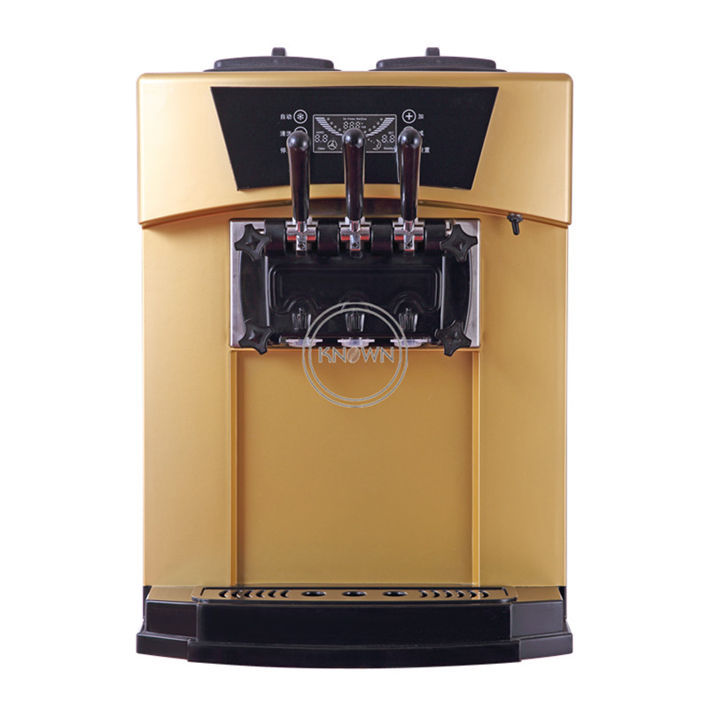 Hot sale free shipping by sea golden soft hard ice cream roll machine with three different flavors and rainbow function