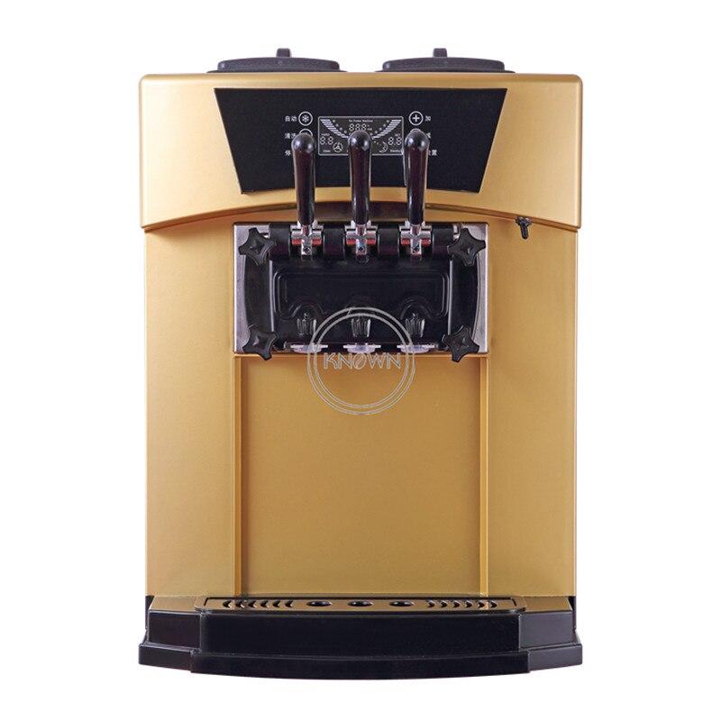 Venta caliente envío gratis por mar de oro de hielo duro crema máquina de rollo con tres diferentes sabores y Arco Iris función