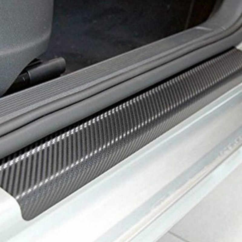 4 個ユニバーサル車のドア敷居抗 kick ステッカースカッフテクターアンチカーボンファイバー自動ドアステッカーカーアクセサリー小スクレーパー