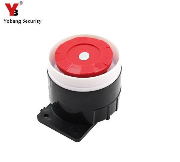 Yobang Security Wired Siren Home Security Mini Siren Sensors Alarms For Sale 110dB 12V Home Office Protecting Sensors Alarm