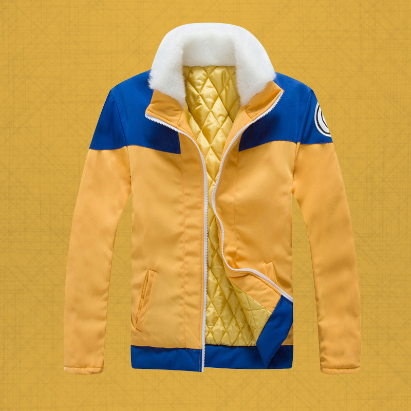 Naruto Naruto Uzumaki Naruto COS dress fur coat fur collar concept Naruto thick cotton padded jacket