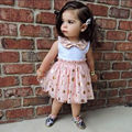 HOT Sale Summer Baby Kids Girls Dress Sleeveless Bow Dot Cute Mini Tulle Tutu Girl's Sequins Party Dresses New Pink 1 2 3 4 5Y