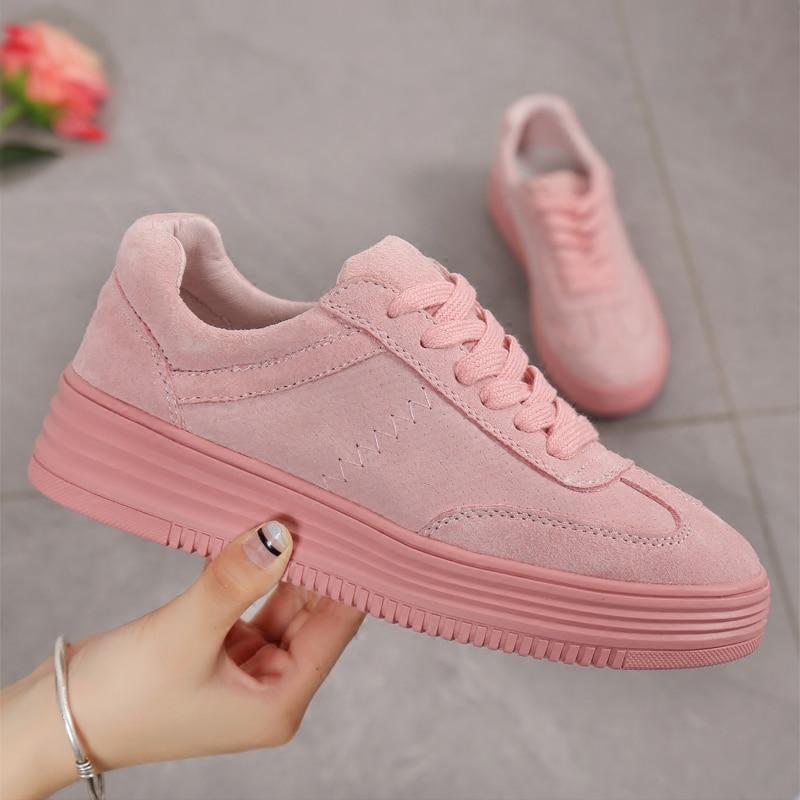 2018 Platte Dames Schoenen Dames Sneakers Mode Roze Schoenen voor - Damesschoenen