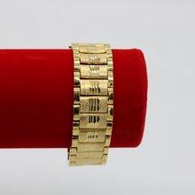 2 см широкий хип хоп мужской браслет желтое золото заполненный