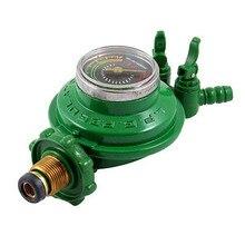 1 шт. на входе 2 выхода сжиженный LGP газовый манометр регулятор давления зеленый