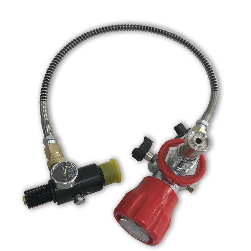 AC0161 rosca G5/8 din válvula para buceo uso cilindro de Gas estación de llenado con un regulador para rellenar tanques Drop Shipping Acecare