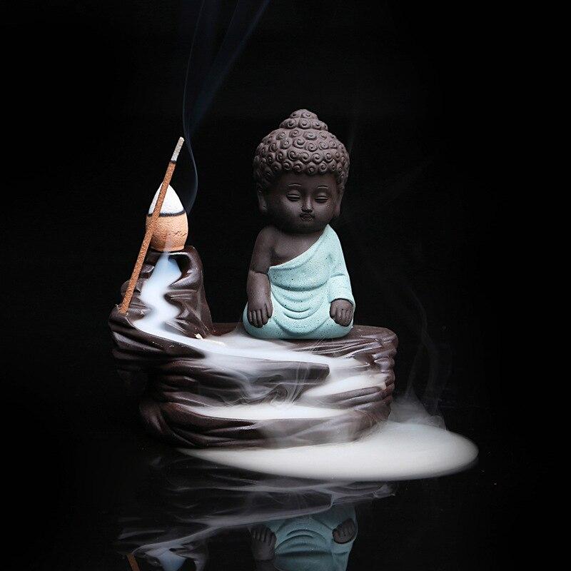 5PCS Incense + Home Decor Будда Censer Керамикалық - Үйдің декоры - фото 6
