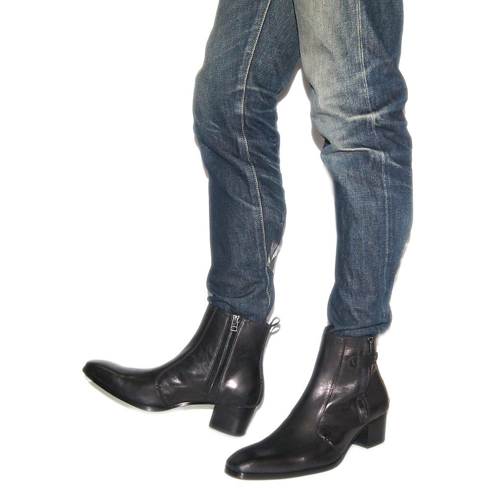 Mano Camisa clase T De Mujeres Para Amable Hom camiseta Black Oveja Tipo Hombres Hechos Ser Zapatos Genuino Cuero Marca Alto Botas Tacón Piel Mujer Bota Camiseta A Suave dfqwZaZ0x