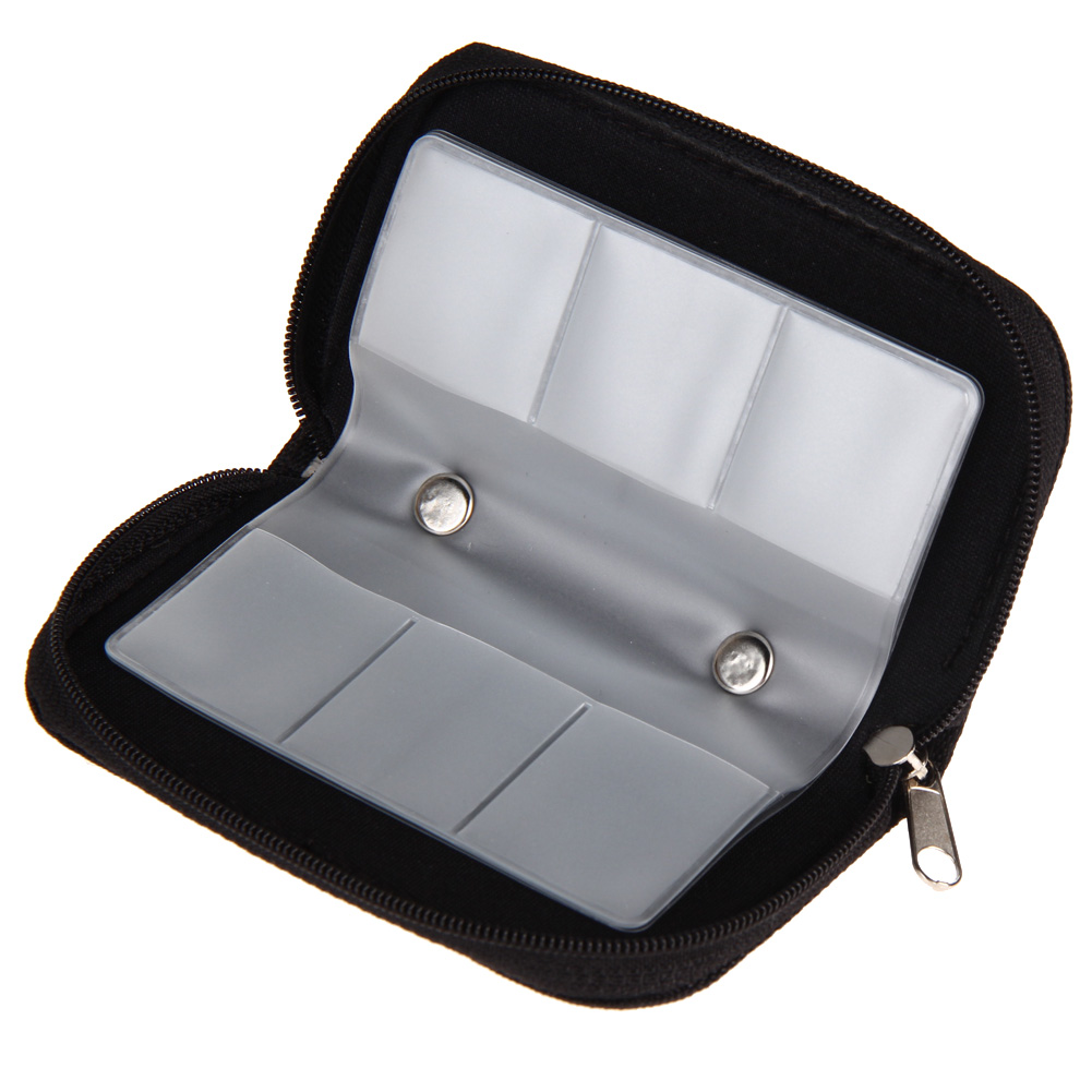 Black Memory Card Storage Bag Carrying Case Holder Wallet 18 Slots + 4 Slots for CF/SD/Micro SD/SDHC/MS/DS Game Accessories phantom 3 4 inspire1 osmo x5 3 accessories aluminum carrying bag box holder protector sd sdhc cf memory card case