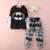Niños de la manera Ropa 2016 Trajes Del Bebé de Batman Sudaderas Con Capucha Sudadera Con Capucha + Pantalones Ropa de Dibujos Animados