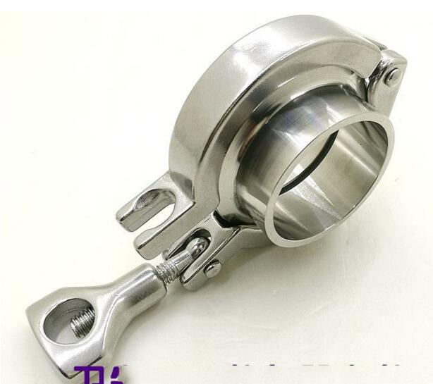 Free Shipping 1.5'' 38MM-159mm Sanitary TriClamp Ferrule + Tri Clamp + Silicon Gasket SS 304