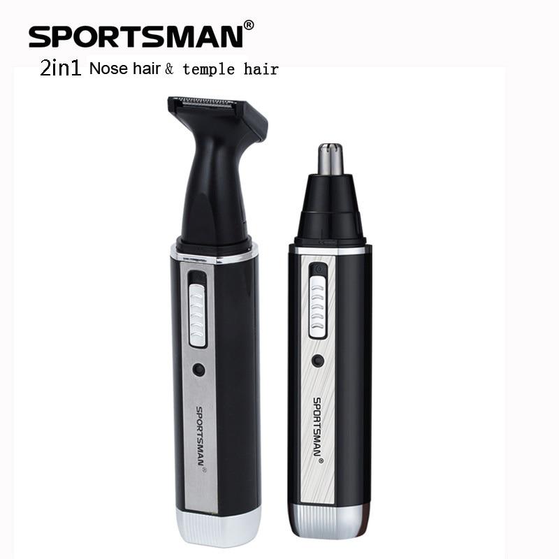 2 Dalam 1 Telinga Hidung Pemangkas Rambut Mesin Pencukur Elektrik Untuk Alat Lelaki Boleh Dikunci Clipper Kuil Rambut Cutter Wajah Penjagaan Rambut Orang