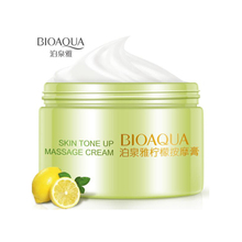 BIOAQUA Lemon Massage Cream Cleanser Deep Cleaning Exfoliation Oil control moisturizing Face Skin Care