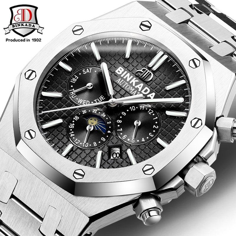 2017 New Watches Men Luxury Top Brand Binkada Mechanical Watch Fashion Business Sport casual Wristwatch relogio masculino