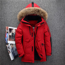 -40 degree cold resistant Russia winter jacket men top quality genuine fur colla