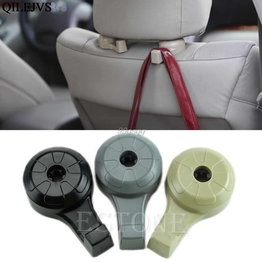 New Useful Car SUV Seat Headrest Stand Holder Hooks Hanger Organizer Bag Coats Drop Ship