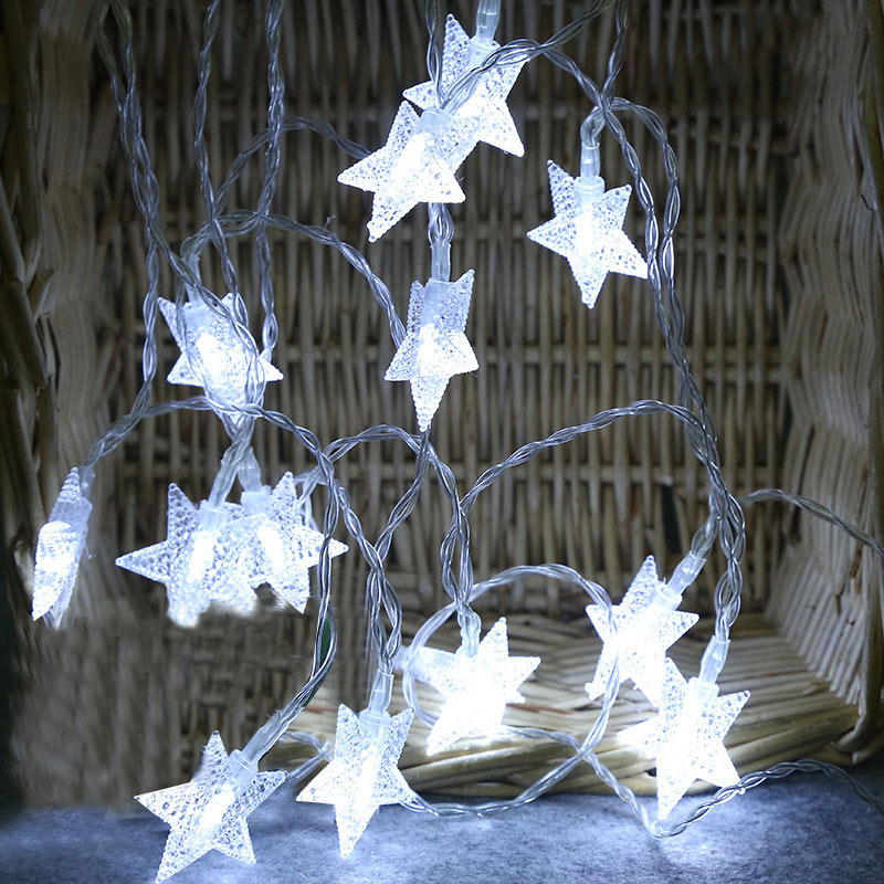 EU Plug /US Plug 10M 100LED Fairy Star Curtain String Light Xmas Garland Light For Wedding Party Holiday Decor @8 JDH99
