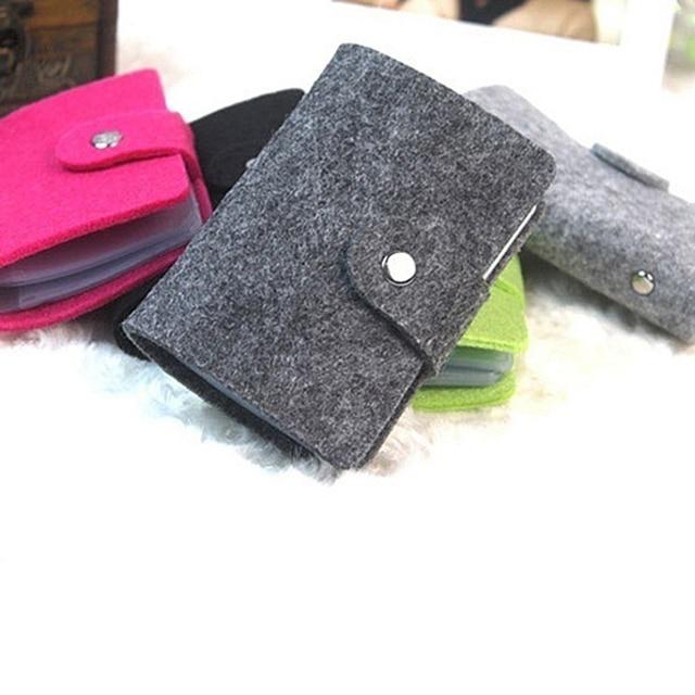 Adisputent Credit Card Holder Women Wallet Business Bank ID Card Package Female Wool  Bag   Passport Cover 1