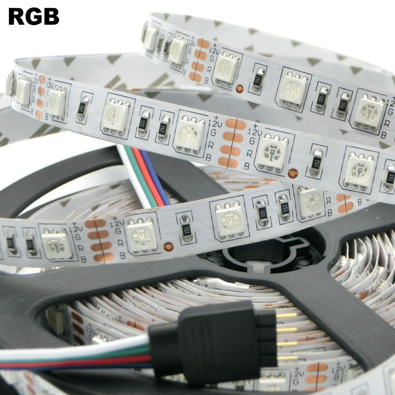 RGB жарық диоды 5050 SMD 60LEDs / M 5M LED жол шамы - LED Жарықтандыру - фото 3
