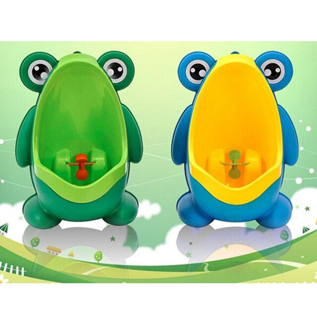 Kawaii Frog Design Boy Kids Toddler Potty Urinal Pee Trainning Toilet Trainer Baby Child Urine Practice