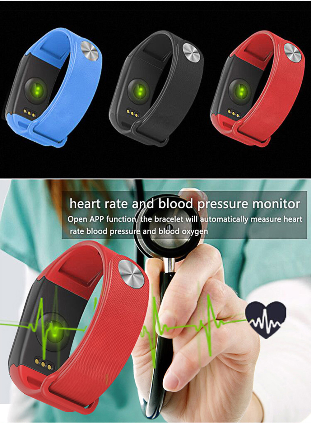 SANDA F1 Smart Watch IP67 Waterproof Heart Rate Monitor Blood Pressure Fitness Bluetooth Men Women Smartwatch For Android IOS