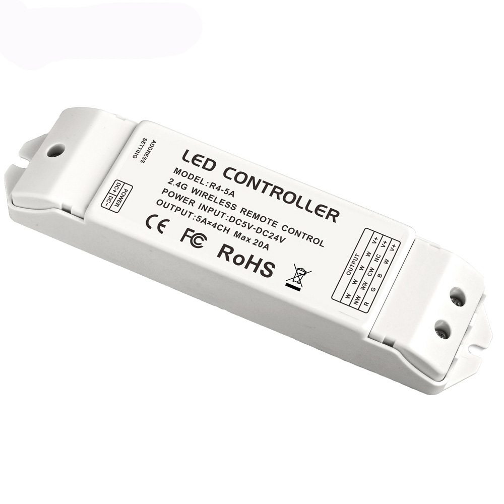 ltech R4 5A CV constant Voltage Multi Zone Receiver controller match with Wifi 104 DX series controller 2.4G DC5 24V 20A Output