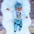 Baby Infant Clothes Sets 2016 New Autumn Child Boys Romper + Hat + Pants Three Piece Suit Children's Clothing BBS048