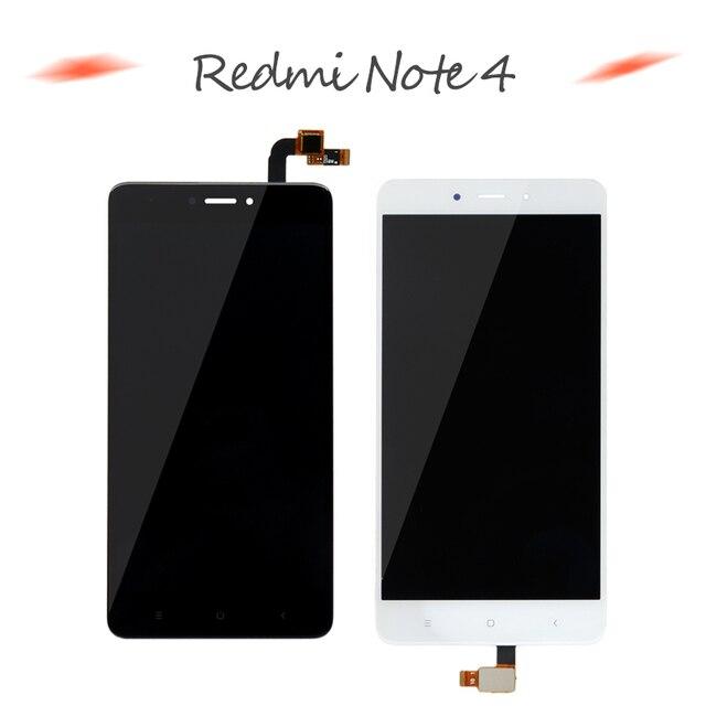 Redmi Note 4 ЖК-дисплей сборки Дисплей для Xiaomi Redmi Note 4 MTK Helio X20 Сенсорный экран Redmi Note 4 Глобальный Примечание 4X Snapdragon 625