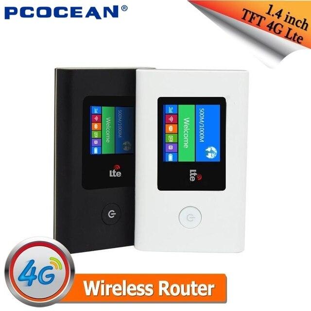 Портативный TFT 4 Г LTE wireless wifi маршрутизатор Точка 4 г/3 г Модем Мобильный Маршрутизатор с сим-карты слот Встроенный 2100 мАч Батареи