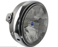 Motocykl Okrągły Chrom Lampy Halogenowe Reflektory Dla Honda VTR250 CB1300 CB400 CB500 Remont CB 250 VTEC400 MOTO Reflektor Lampa