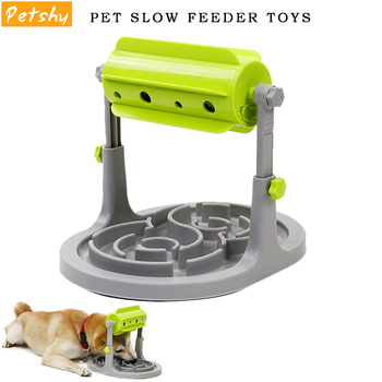 Petshy Pet Dog Interactive Toys Slow Feeders Bowl Healthy Diet Dogs Cats Food Feeder Foraging Toy Pets Food Treat Feeder Ball