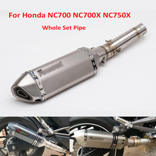 Full Motorcycle Exhaust System Muffler Tip Silencer Pipe Connect Link Tube for Honda NC700X NC700S NC750X