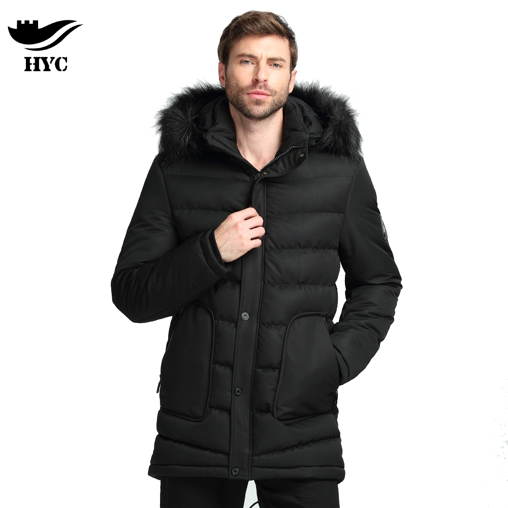 Winter Mens Cotton Padded Jackets Mens Parkas Anorak Warm Male Overcoat Long Trench Coat Men Tactical Jacket Fur Collar Hooded